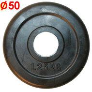 HKPL112 Блин обрезиненный (d 51 мм.)1,25 кг., 10011424, 05.ЖЕЛЕЗО