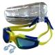 H10060 Очки для плавания с берушами (жёлто-синие)