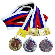 F11733 Медаль 2 место с флагом (лента в комплекте), 10013247, 15. НАГРАДНАЯ ПРОДУКЦИЯ