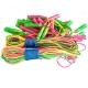 R18107 Скакалки (10 штук) плетеный шнур из ПВХ, 2,6 м. (мультиколор)