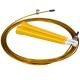 R18144 Скакалка скоростная 2,8 м. трос в ПВХ (золотая)