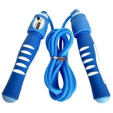 R18146 Скакалка 2,8 м. ПП/Резина (синяя)