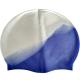 """R18188 Шапочка для плавания взрослая """"Супер широкая"""" (силикон) (2-х цветная: Сине/белая)"""