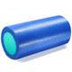 PEF100-31 Ролик для йоги полнотелый 2-х цветный (синий/зеленый) 30х15см.