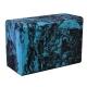 B26352-1 Йога блок полумягкий (черно/голубой гранит) 223х150х76мм., из вспененного ЭВА
