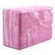 B26352-3 Йога блок полумягкий (розово/белый гранит) 223х150х76мм., из вспененного ЭВА