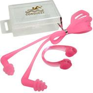 C33555-2 Комплект для плавания беруши и зажим для носа (розовые), 10016736, Аксессуары для плавания