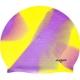 MC701 Шапочка силиконовая SR Мультиколор фиолетовы / желтый без логотипа