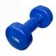 HKDB115-N Гантель виниловая 1,5 кг (синяя) (12)