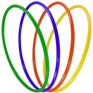 """Обруч пластиковый """"Спорт"""" 90см (цвета-Микст) (d-22), 10013461, ОБРУЧИ"""