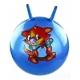 T07481 Мяч попрыгун с рожками 55 см (3 цвета, с рисунком)