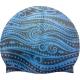 SRSC-300-A Шапочка силиконовая SR Темно-синий с Синим принтом Ацтеки