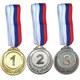 F18523 Медаль 1 место  (d-6,5 см, лента триколор в комплекте)