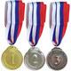 F18538 Медаль 1 место  (d-5 см, лента триколор в комплекте)