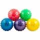 F18567 Мяч массажный мягкий d-10 см. (ПВХ,  цвета Mix: красный/синий/зеленый/розовый в пакете)