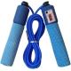 B23651 Скакалка со счетчиком (цвет-Синий, ручки мягкий ТПЕ, шнур ПВХ)