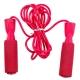 B23650-2 Скакалка с подшипником (цвет-Красный, ручки неопреновые, шнур ПВХ)