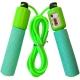 B23651 Скакалка со счетчиком (цвет-Зеленый, ручки мягкий ТПЕ, шнур ПВХ)