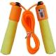 B23651 Скакалка со счетчиком (цвет-Оранжевый, ручки мягкий ТПЕ, шнур ПВХ)