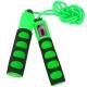 B23652-4 Скакалка со счетчиком (цвет-Зеленый, ручки неопреновые, шнур ПВХ)