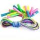 R18109 Скакалки (10 штук) шнур из ПВХ 2,6 м. (2-х цветный мультиколор, полупрозрачная с блестками)