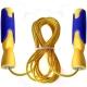 R18147 Скакалка с подшипником 2,8 м. ПП/Трос (желто-синяя)