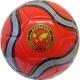 R18027-3 Мяч футбольный (красный) 3-слоя  PVC 2.3, 340 гр, машинная сшивка