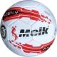 """R18032-1 Мяч футбольный """"Meik-069"""" (белый) 4-слоя  TPU+PVC 3.0,  400 гр, машинная сшивка"""