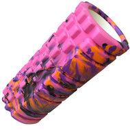 D26059 Ролик для йоги (розовый/мультиколор) 33х14см ЭВА/АБС, 10015359, РОЛИКИ ДЛЯ ЙОГИ
