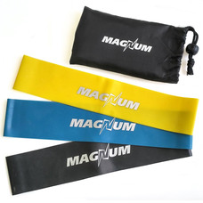 "MLB50-3 Комплект эспандеров ""Magnum"" 3 штуки в сумке (50 х 5см х 0,4/0,8/1,2 мм)"
