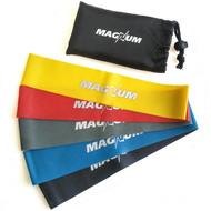 """MLB50-5 Комплект эспандеров """"Magnum"""" 5 штук в сумке (50 х 5см х 0,4/0,6/0,8/1,0/1,2 мм), 10015686, ЭСПАНДЕРЫ"""