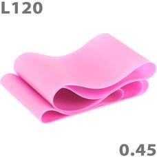 MTPR/L-120-45 Эспандер ТПЕ лента для аэробики 120 см х 15 см х 0,45 мм. (розовый)