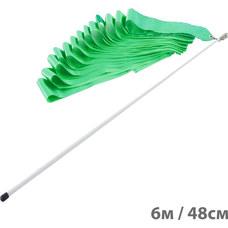 F11753-6M Лента гимнастическая 6м. с палочкой 48см. Цвет: Зеленый