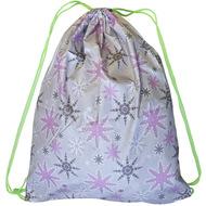 "SM-140 Мешок-рюкзак серый с рисунком ""Снежинки"", 10016297, 02.СУМКИ"