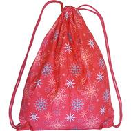"""SM-141 Мешок-рюкзак красный с рисунком """"Снежинки"""", 10016298, 02.СУМКИ"""