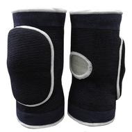 NK-404-XL Наколенники волейбольные с дыркой (Черный/Белый) р. XL, 10016374, Волейбольные аксессуары