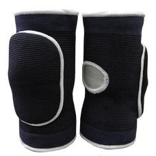 NK-404-XL Наколенники волейбольные с дыркой (Черный/Белый) р. XL