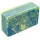 B26352-2 Йога блок полумягкий (зелено/голубой гранит) 223х150х76мм., из вспененного ЭВА
