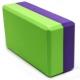 B26353 Йога блок полумягкий 2-х цветный (фиолетово/зеленый) 223х150х76мм., из вспененного ЭВА
