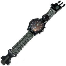 D26095-5 Часы туристические кварцевые 6в1 (серый камуфляж)