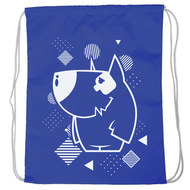 "SM-225 Мешок-рюкзак ""Dog"" (синий), 10016595, 02.СУМКИ"