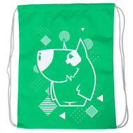 "SM-231 Мешок-рюкзак ""Dog"" салатовый Neon, 10016601, 02.СУМКИ"