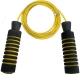 R18153-6 Скакалка Неопрен/ маталл.трос с подшипником 2,8 м. (желто/красная)