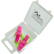 C33556-2 Беруши силиконовые на шнурке (розовые), 10016739, Аксессуары для плавания