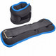 """HKAW104-5 Утяжелители """"ALT Sport"""" (2х2,5кг) (нейлон) в сумке (черный с синей окантовкой)"""