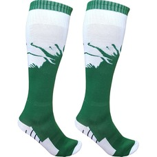 C33714 Гетры футбольные (зелено/белые) р.SR (взрослые) для экипировки спортивных команд