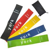 """C33511 Комплект эспандеров """"York"""" латексная петля 600х50 мм (5шт в сумке), 10017266, Эспандеры Трубки Ленты Жгуты"""