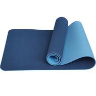 TPE6-5 Коврик для йоги ТПЕ 183х61х0,6 см (голубо/синий) (B32852), 10017392, КОВРИКИ