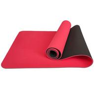 TPE6-8 Коврик для йоги ТПЕ 183х61х0,6 см (красно/черный) (B32855), 10017393, КОВРИКИ