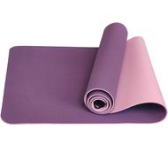 TPE6-1 Коврик для йоги ТПЕ 183х61х0,6 см (розово/фиолетовый) (B32848), 10017396, КОВРИКИ